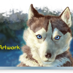 tutorial walkthrough digital artwork husky