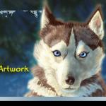 tutorial walkthrough digital artwork husky